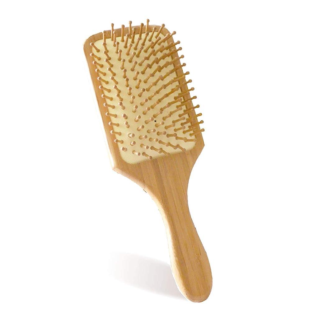 細分化するエスカレート裁量ヘアブラシ 木製櫛 Maxun 頭皮マッサージコーム 血行促進 薄毛改善 美髪ケア (3枚替えピン付き)