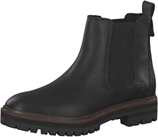 Women's London Square Burgundy Chelsea Boot