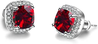Luxury Female Crystal Zircon Stone 925 Sterling Silver Filled Jewelry Vintage Double
