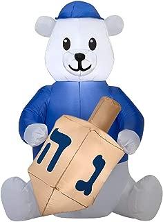 Airblown Inflatable Hanukkah Bear with Dreidel