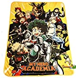 My Hero Academia Throw Blanket - All Might, Deku, Bakugo, Shoto Todoroki Group Key Art