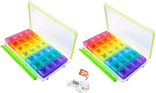 Best 7 day pill organizer 4 compartments Reviews