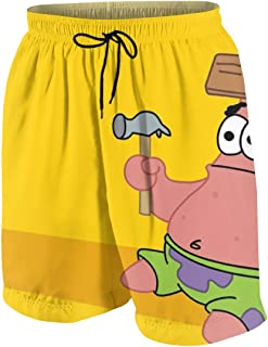 bbbf61f6d1045 OINUNTN Swim Trunks Patrick Star Quick Dry Beach Board Shorts Bathing Suit  with Side Pockets for
