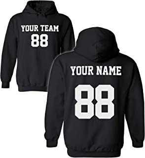 Design Your OWN Hoodie for Men & Women - Custom Jersey Hoodies - Pullover Team Sweatshirts