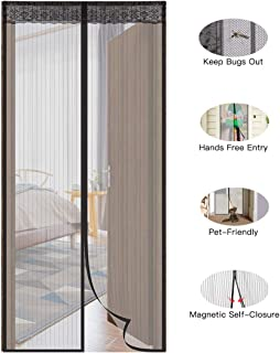 "Aebitsry Magnetic Screen Door, Fits Door up to 39""W x 83""H, Magnet Mesh Curtain & Fly Mosquito Screen Self Closure, Full Frame Velcro Tight & Seal Polyester Net, Keeping Bugs Out"
