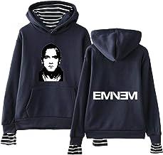 Xdsy Felpa Uomo con Cappuccio Eminem Anti-E Hip Hop Plus Felpa con Cappuccio in Pile