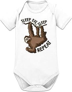 Shirtcity Sleep Eat Sleep Repeat Baby Strampler by