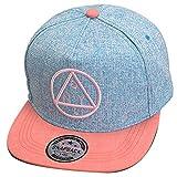 Thenice Damen Hip-Hop Dreieck Muster Cap Baseball Hut (blau)