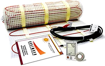 50 Sqft Electric Radiant Floor Heating System with Required GFCI Programmable Thermostat 120V