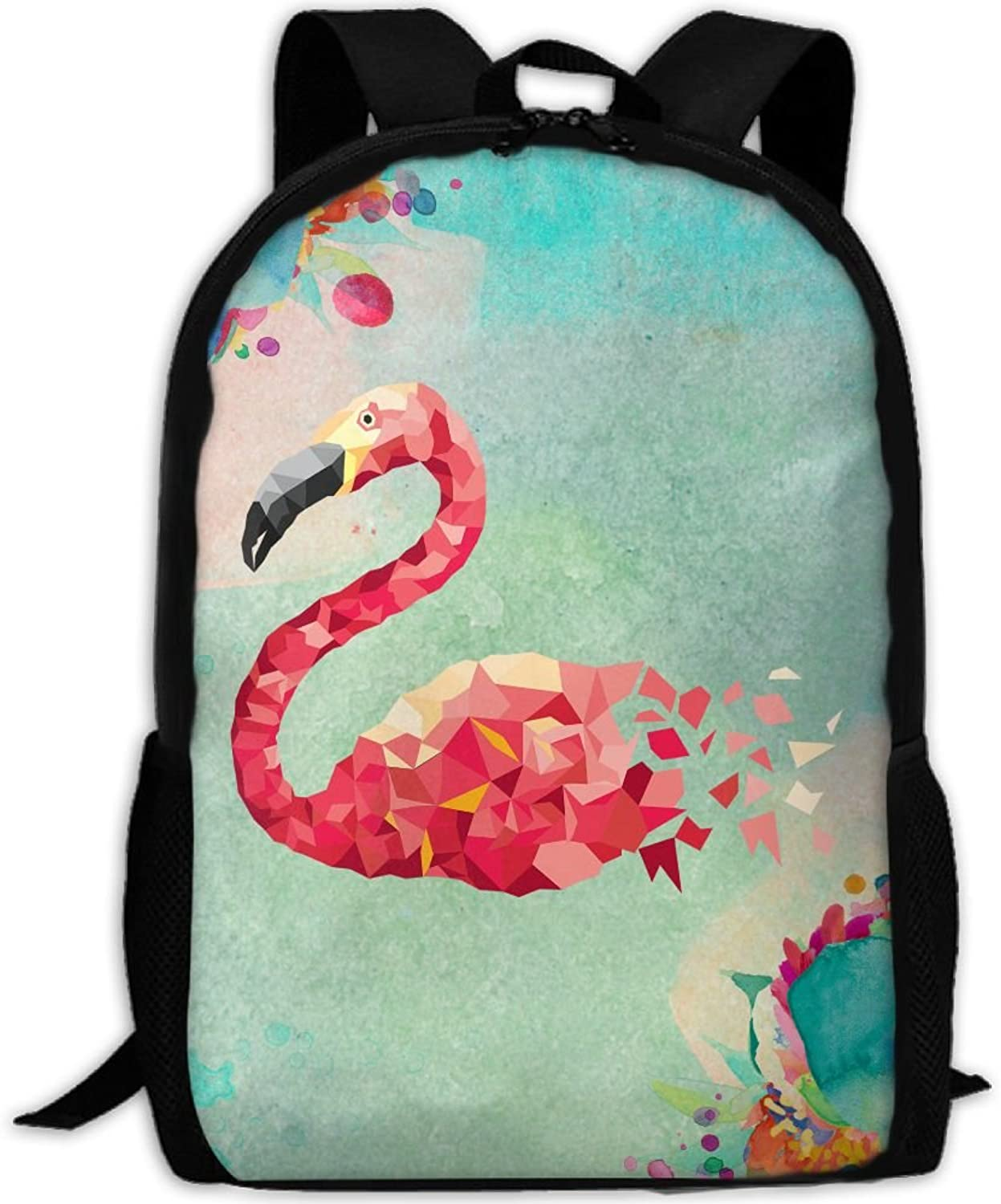 Adult Backpack Flamingo Puzzles College Daypack Oxford Bag Unisex Business Travel Sports Bag with Adjustable Strap
