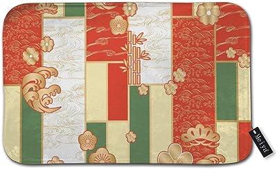 "Japanese Kimono Template Vector Doormat Entrance Mat Floor Mat Rug Indoor/Bathroom Mats Rubber Non Slip (23.6""x15.8"",L x W)"