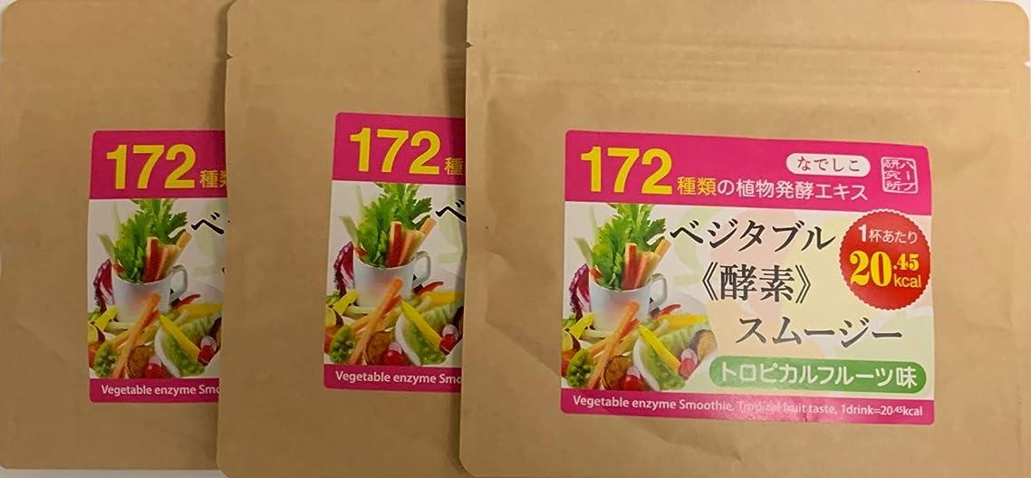 考え問い合わせる酔ってなでしこ ベジタブル酵素入り グリーンスムージー(トロピカルフルーツ味)300g (100g×3パック)で20%OFF