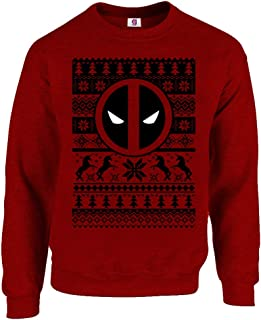 Graphic Impact Funny Dead in The Pool Inspired Action Hero Xmas Christmas Jumper Sweater