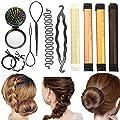 Hair Styling Set, Vibury 11 Pack Hair Bun Maker Hair Design Styling Tools Accessories DIY Hair Accessories Hair Magic Simple Fast Spiral Hair Braid Hair Braiding Tool