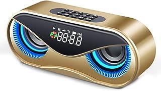 Yimoer ポータブル スピーカー ラウドスピーカー 高音質 割に合う製品でござる Bluetoothスピーカー フクロウBluetoothスピーカー ダブルスピーカー 目覚まし時計 ミニステレオスピーカー ホーム ベッドルーム オフィス レトロな無線通信スピーカーラジオ形状ヴィンテージミニかわいいスピーカー