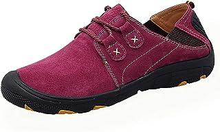 Zapatos de Cordones Mocasines de Cuero para Hombres Calzados Informales Calzado para Conducir Transpirable Caminar al Aire...