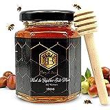 Miel de Sidr du Yémen Pur jujubier Brut Sidr Honey Royal 150 g -Naturel - Energisant - 1 cuillère en bois Naturel Biodégradable