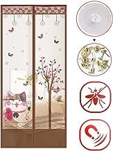 Magnetisch vliegengaas met glaswol voor deuren, creatief model, anti-muggennet, magnetisch voor deuren 85x210cm(33x83inch) W