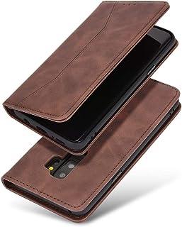 Galaxy S9 Plus (SC-03K SCV39)手帳型ケース 財布型 カード収納 スタンド機能 マグネット開閉 軽量TPU 収納力抜群 QI充電対応 横置き機能 ソフトシリコン スマホケース 防指紋 レンズ保護 落下防止 全面保護(ブ...