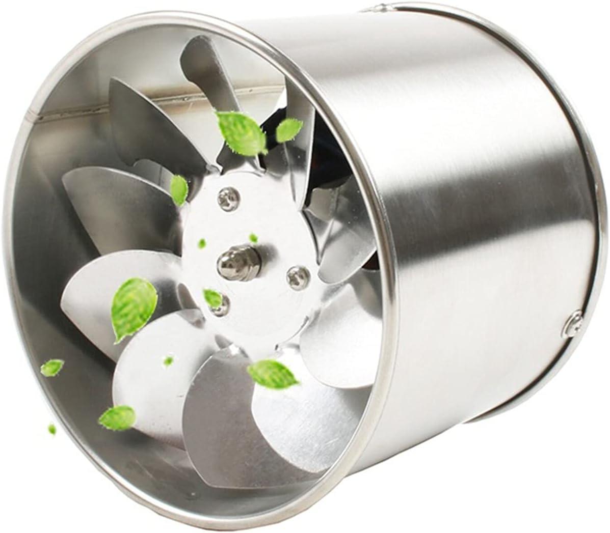 zlw-shop 4 Pulgadas de Acero Inoxidable Tubo de Escape Ventilador de Escape de ventilación ventilación ventilación Ventilador de la Cocina Ventilador con la Cubierta Booster Extractor 100mm