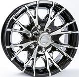 16 x 6 Viper T07 Black Machined Trailer Wheel 6 Lug, 3,200 lb Capacity