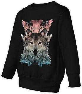 狼の魅力 The Wolf スウェット スウェットパーカー 子供トレーナー 綿 クルーネック 長袖 パーカー 柔らかい 秋冬 おしゃれ かっこいい
