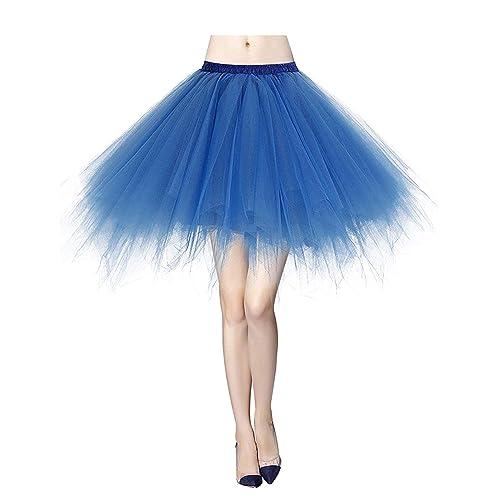 374144494 MizHome Womens Soild Color Tutu Skirt Layered Tulle Skirt Adult Halloween  Costumes