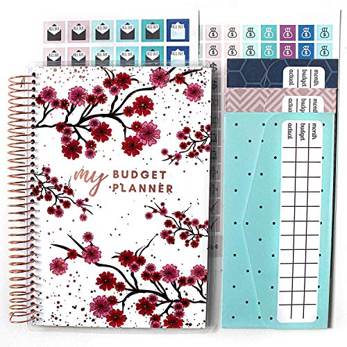 Budget Planner (12 Months Undated) with Cash Envelopes 250+ Budgeting Stickers & Sticker Tabs - Monthly Financial Planner - Expense Tracker - Busy Bee Planners