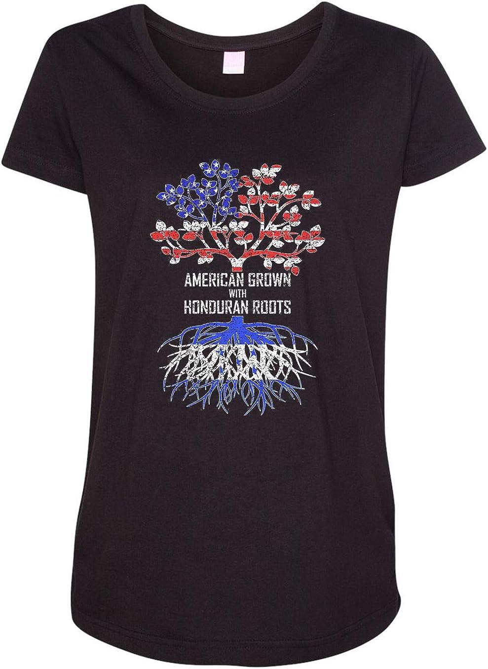 HARD EDGE DESIGN Women's American Grown with Honduran Roots T-Shirt