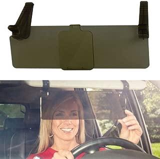 Car Anti-Glare Automobile Visor,Car Sun Visor,HD Auto Car Clip on Sun Visor Flip Down Shield Day and Night UV Blocker for Front Seat Driver or Passenger