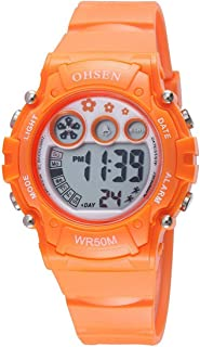 Para mujer deportes Digital multifuncted Digital world-time OHSEN impermeable reloj electrónico automático
