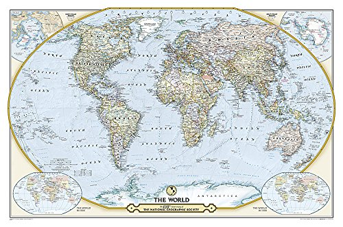 National Geographic Society 125th Anniversary World Map Tubed: Wall Maps Countries & Regions (National Geographic Reference Map)