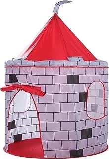 GEWCB Carpa para Niños, Castillo De La Muralla De La Ciudad, Yurta, Casa De Juguete Al Aire Libre Interior, Redes Plegables, Casa De Juego