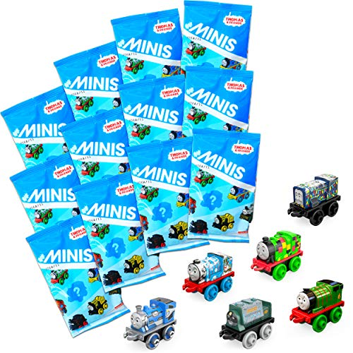 Fisher-Price Thomas & Friends Minis (Engines) Blind Bags Gift Set Party Bundle - 12 Pack Thomas The Train Blind Bags for Kids Party Favors
