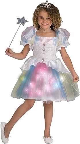 Twinklers Rainbow Ballerina with Fiber Optic Skirt, Toddler by Rubie's