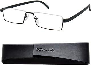 e045699d16 Flexibles Gafas de Lectura de Media Montura | Montura de Acero Inoxidable  Ligera (Negra)