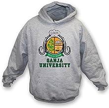 TshirtGrill La sudadera con capucha de la universidad de Ganja (según lo llevado por Bob Marley), colorea gris