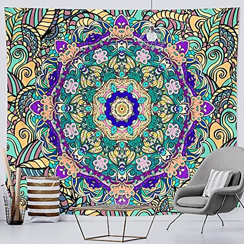 PPOU Tapiz de Mandala Indio Escena psicodélica Tapiz Colgante de Pared Hippie Bohemio Colgante de Pared Manta Tela de Fondo A3 180x200cm