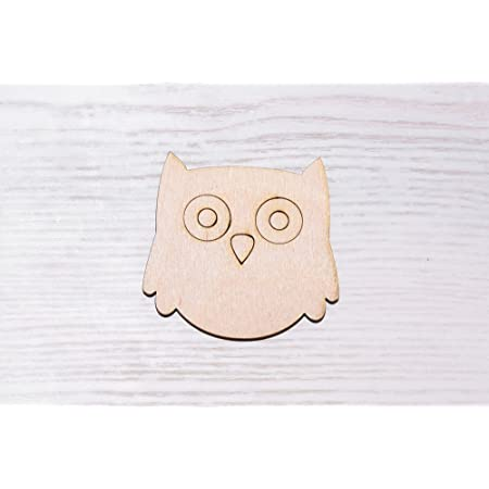 7cm wooden owl shape unpainted natural wood ready to decorate make your own owl DIY