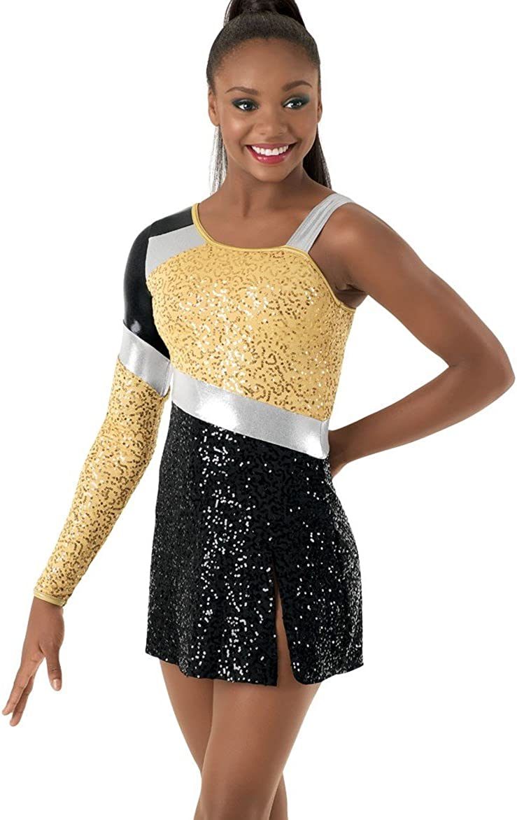 Balera Asymmetrical Dance Dress Color Ranking TOP3 with Year-end gift Long Block One Sleeve
