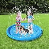 Pecute Sprinkler Wasser-Spielmatte Splash(100 * 100 * 10cm), Sprinkler für Hunde Spritz wasserspiel...