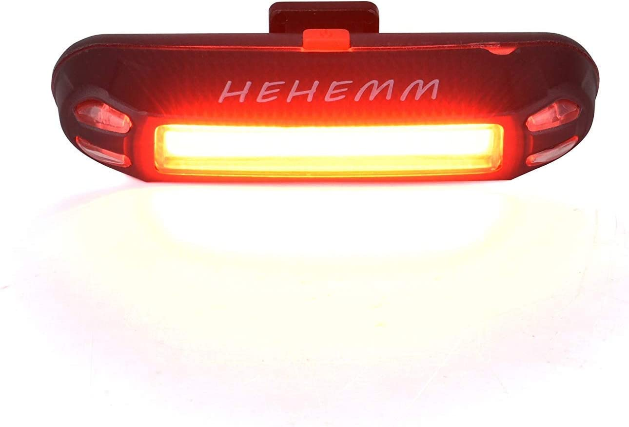HEHEMM Popular brand in the world Super Bright Bike security Tail Bic Warning Rechargeable USB Light