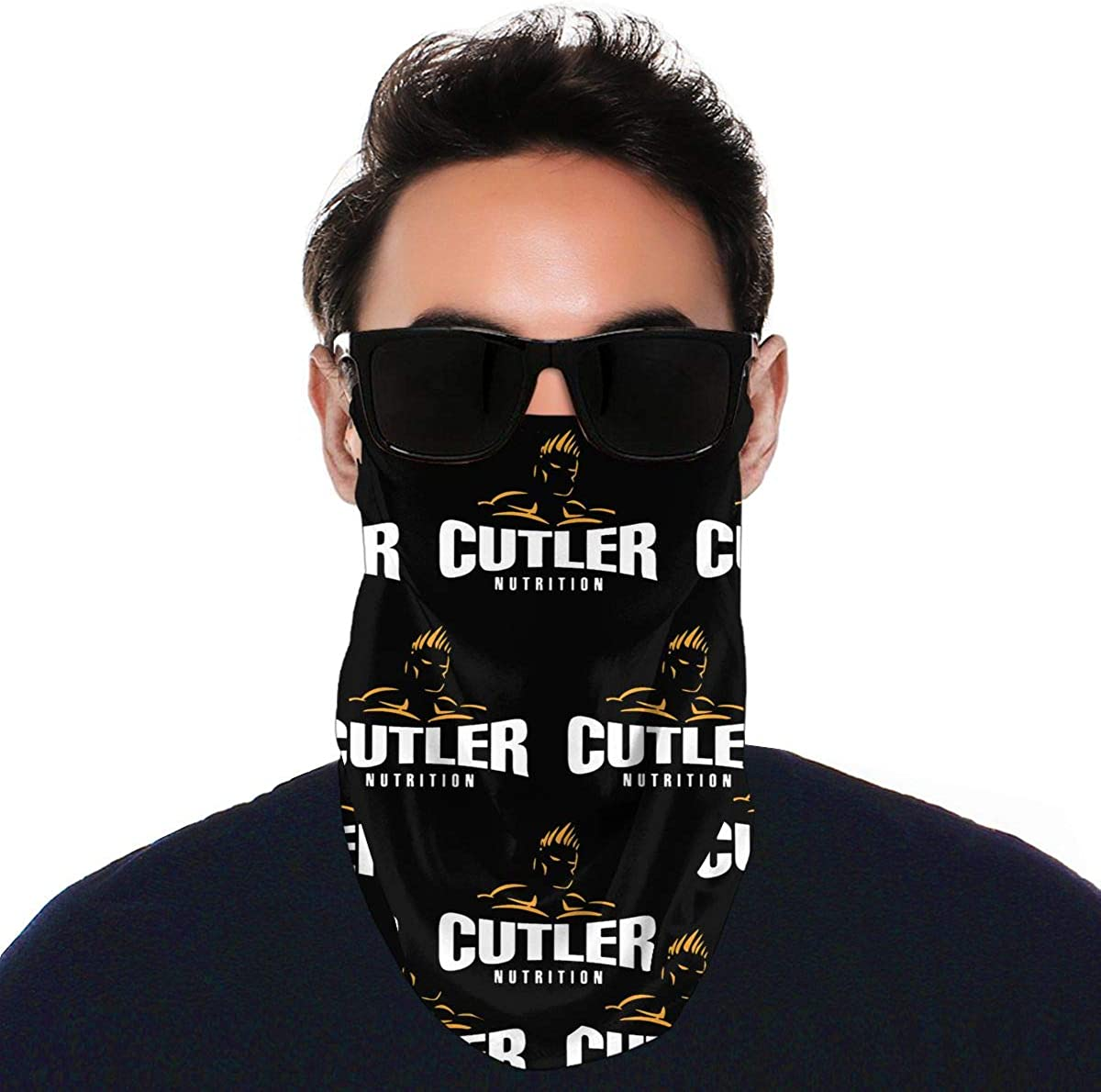 SIPONE Washable Men's & Women's Jay Cutler Reusable Multiuse Bandanas Neck Gaiter Print Mask