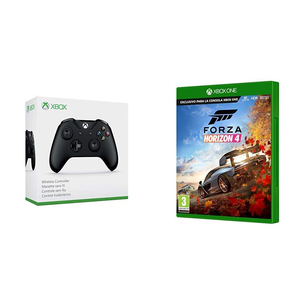 Microsoft - Mando Inalámbrico, Color Negro (Xbox One), Bluetooth + Forza Horizon 4: Amazon.es: Videojuegos
