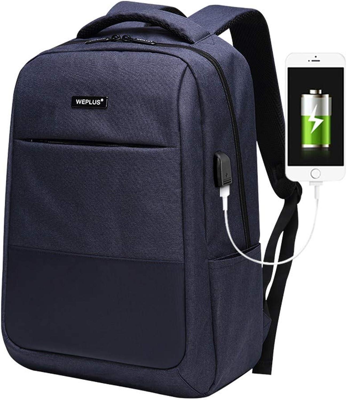 Xcstdjx Multi-Funktions-Computer USB-Lade 15,6-Zoll-Laptop-Rucksack Mnner Tasche Groe Kapazitt Lssig Stil wasserdichte Tasche