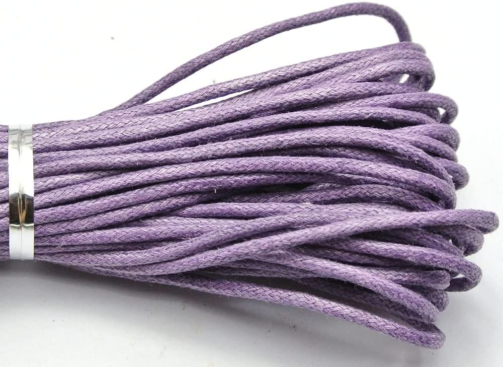 FC-21098 DIY-Jewelry Soldering mart 30 Meters Purple Cord Beading Waxed Cotton