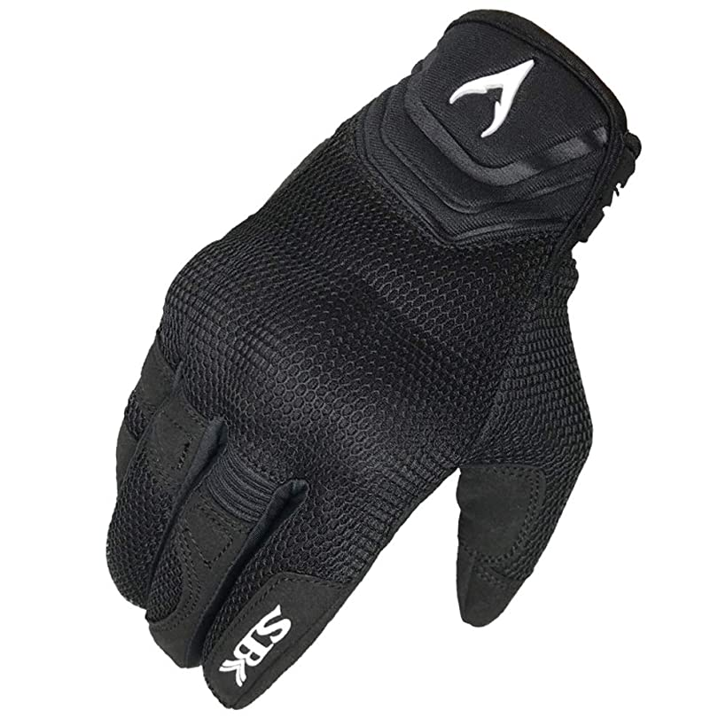 YJLGRYF Full Finger Motorcycle Gloves| Summer Men's Cavalier Breathable Drops Sports Gloves Cycling Locomotive Touch Screen Racing Fall Gloves (Color : Black, Size : M)