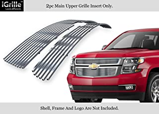 APS Compatible with 2015-2020 Chevy Suburban Tahoe Stainless Steel Billet Grille Chrome Polished C66320C