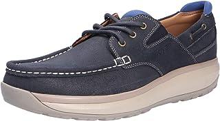 JOYA Mens Havanna Leather Textile Shoes