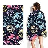 Toalla de Playa de Microfibra,160x80cm Grande de Dos Caras de Secado Toalla de...
